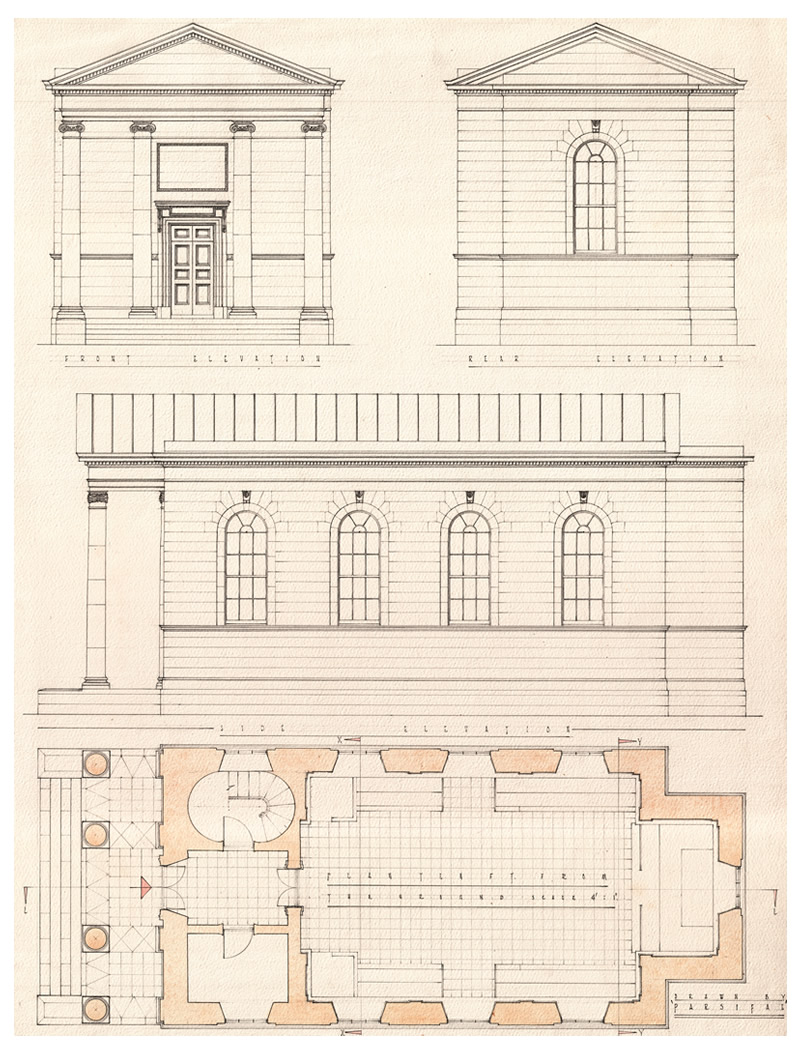 Plan Elevations And Sections Of The Primates Chapel